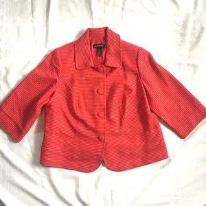 Lane Bryant Red 3/4 Sleeve Blazer